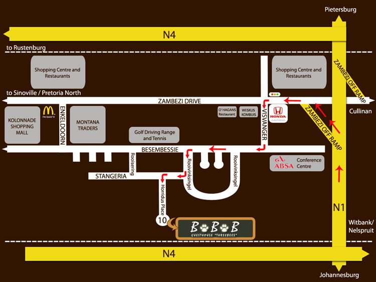 Map to GuesthouseBBB